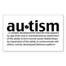 Funny Autism black Decal