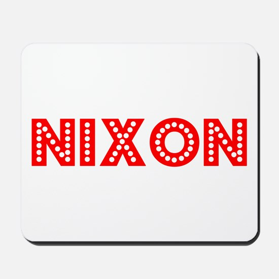 Retro Nixon (Red) Mousepad