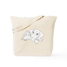 Bunny Puppy Tote Bag