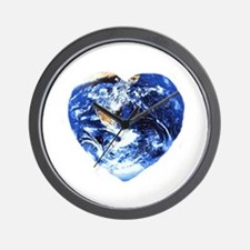I heart Earth Wall Clock