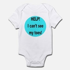 Can't see my toes Infant Bodysuit