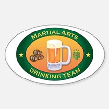 Martial Arts Team Oval Decal