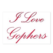 I Love Gophers Postcards (Package of 8)