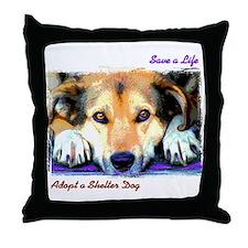 Save a Life - Adopt a Shelter Throw Pillow