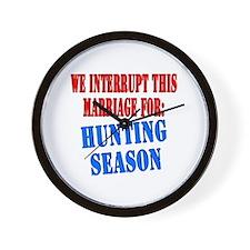 Interrupt this marriage hunting season Wall Clock