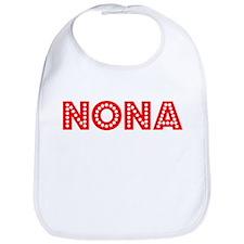Retro Nona (Red) Bib