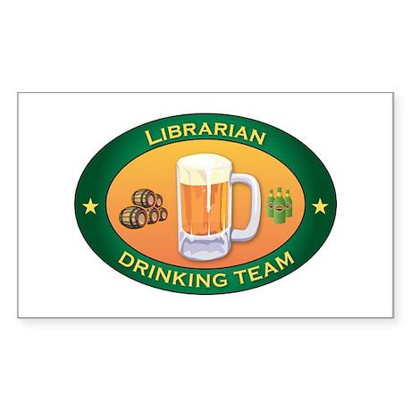 Librarian Team Rectangle Sticker