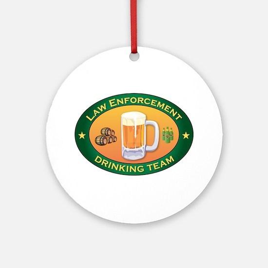 Law Enforcement Team Ornament (Round)