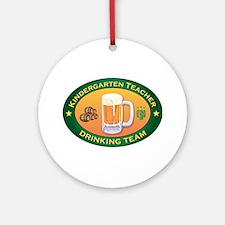 Kindergarten Teacher Team Ornament (Round)