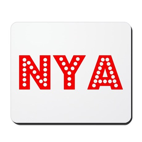 Retro Nya (Red) Mousepad