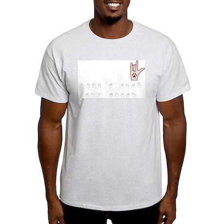 Love a Deaf Dog Today! Ash Grey T-Shirt