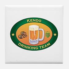 Kendo Team Tile Coaster