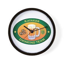Kayaker Team Wall Clock