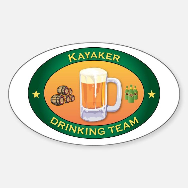 Kayaker Team Oval Sticker (10 pk)