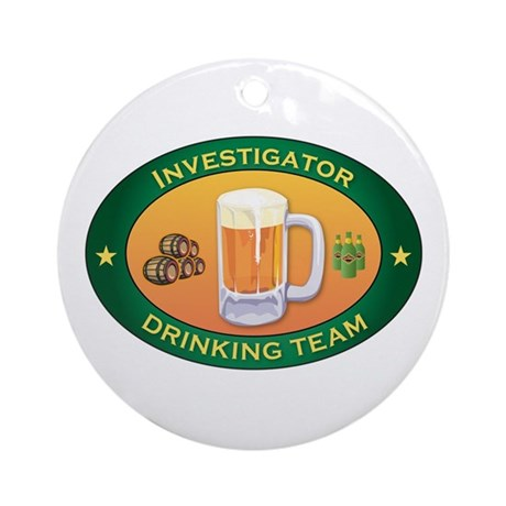 Investigator Team Ornament (Round)