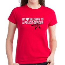 My Heart Belongs to a Police Officer Tee