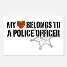 My Heart Belongs to a Police Officer Postcards (Pa