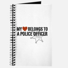 My Heart Belongs to a Police Officer Journal