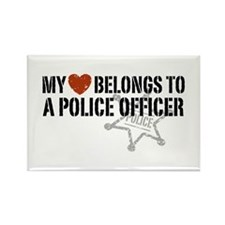 My Heart Belongs to a Police Officer Rectangle Mag