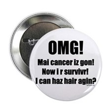"I Can Haz Hair? 2.25"" Button (10 pack)"