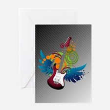 Guitar Fantasy Greeting Card