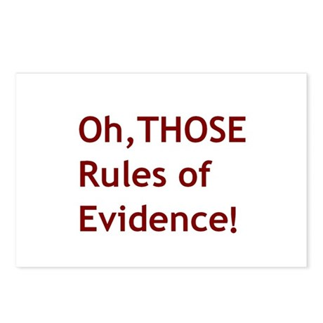 Rules of Evidence 2 Postcards (Package of 8)