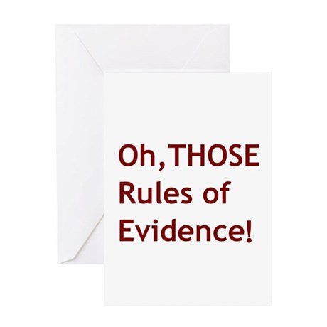 Rules of Evidence 2 Greeting Card