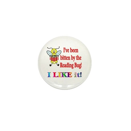 Reading Bug Mini Button (10 pack)