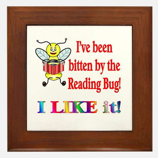 Reading Bug Framed Tile