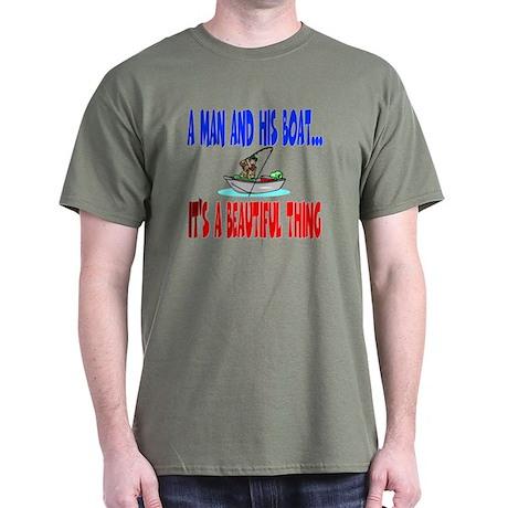A man and his boat Dark T-Shirt