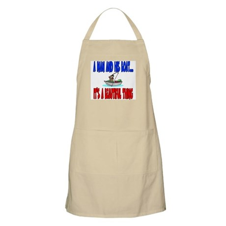 A man and his boat BBQ Apron