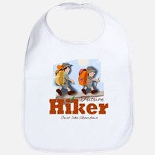 Future Hiker Like Grandma Baby Infant Toddler Bib