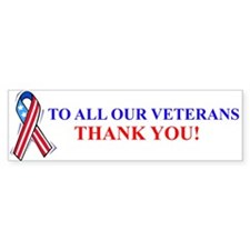 Thank You Vets Bumper Bumper Car Sticker