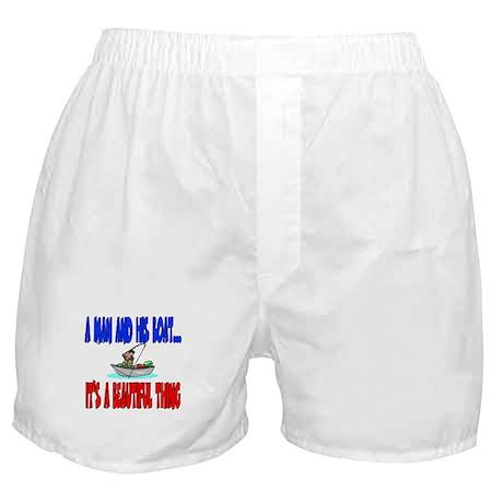 A man and his boat Boxer Shorts