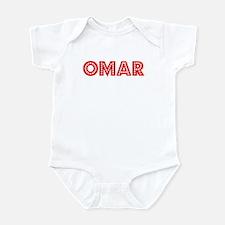 Retro Omar (Red) Infant Bodysuit
