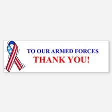 Thank You Armed Forces Bumper Bumper Bumper Bumper Sticker