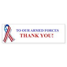 Thank You Armed Forces Bumper Bumper Bumper Sticker