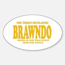 Brawndo Oval Sticker (10 pk)