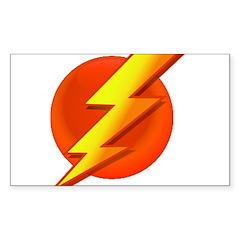 Superhero Rectangle Sticker 10 pk)
