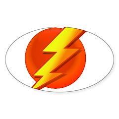 Superhero Oval Sticker (10 pk)