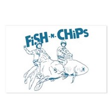 Fish n Chips Postcards (Package of 8)