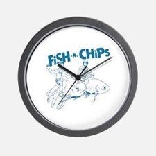 Fish n Chips Wall Clock