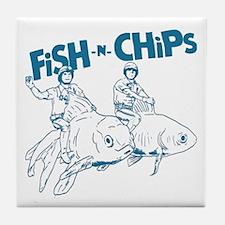 Fish n Chips Tile Coaster