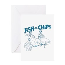 Fish n Chips Greeting Card