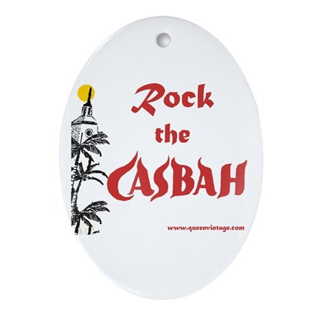 Rock the Casbah Oval Ornament