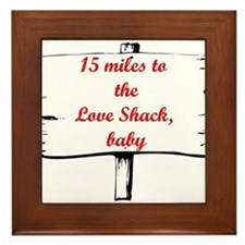 Love Shack Framed Tile