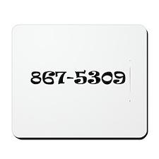 867-5309 Jenny Mousepad
