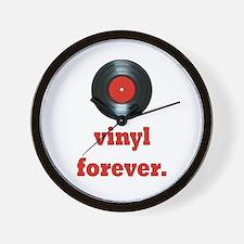vinyl forever Wall Clock