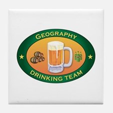 Geography Team Tile Coaster