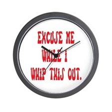 Whip this out Wall Clock